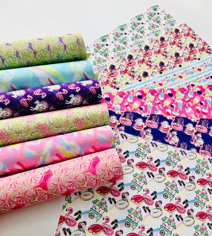The Summer Flamingo printed canvas bundle
