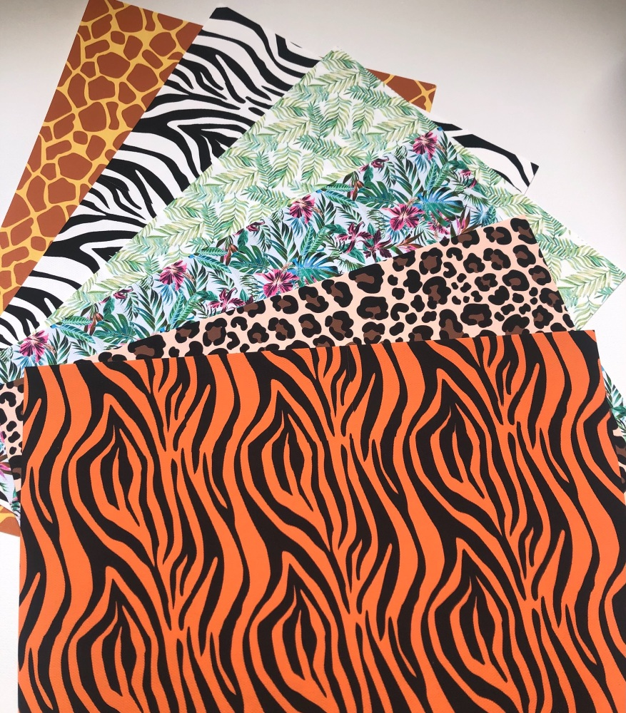 Safari Theme Jungle Printed Canvas Bundle