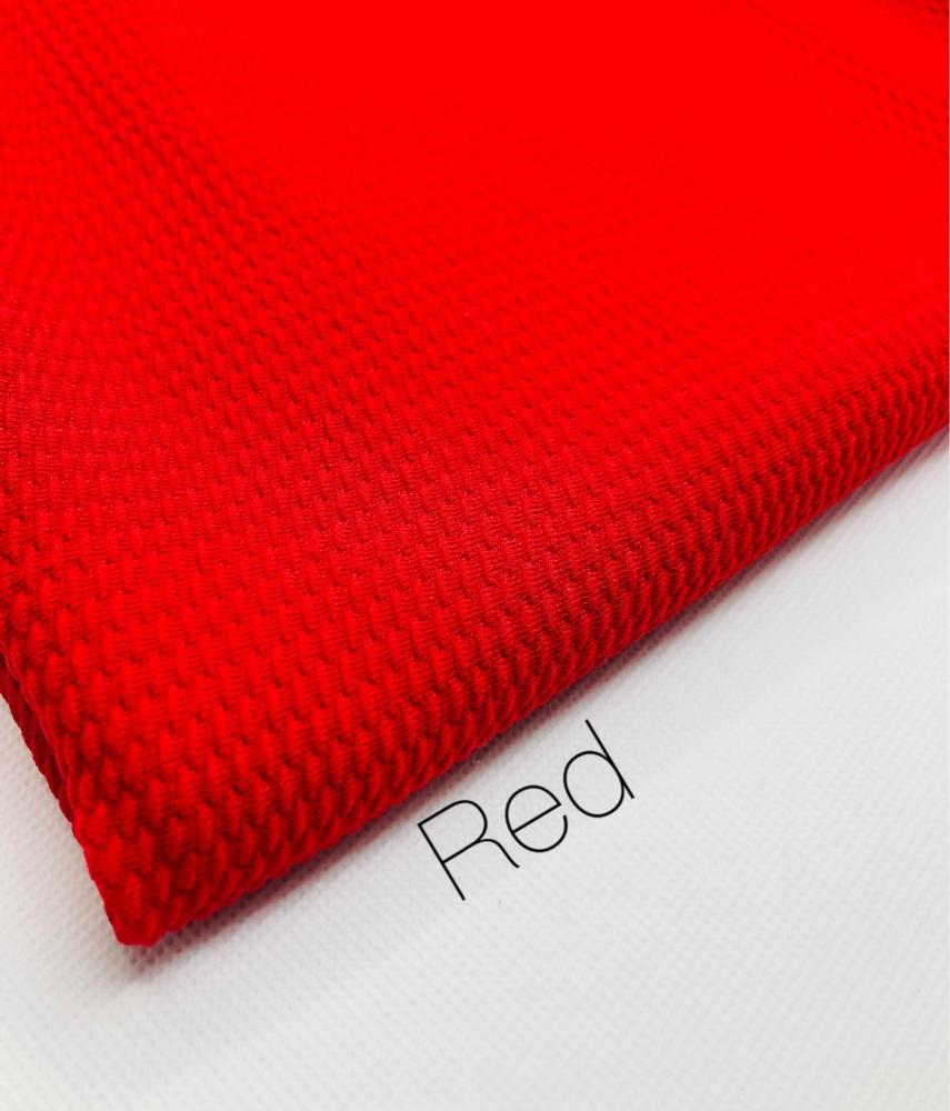 #11 Red Plain Bullet Fabric