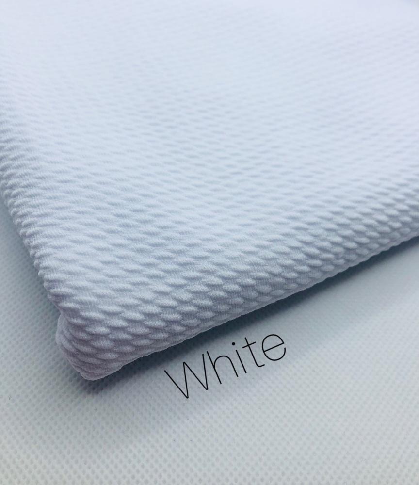 #20 White Plain Bullet Fabric