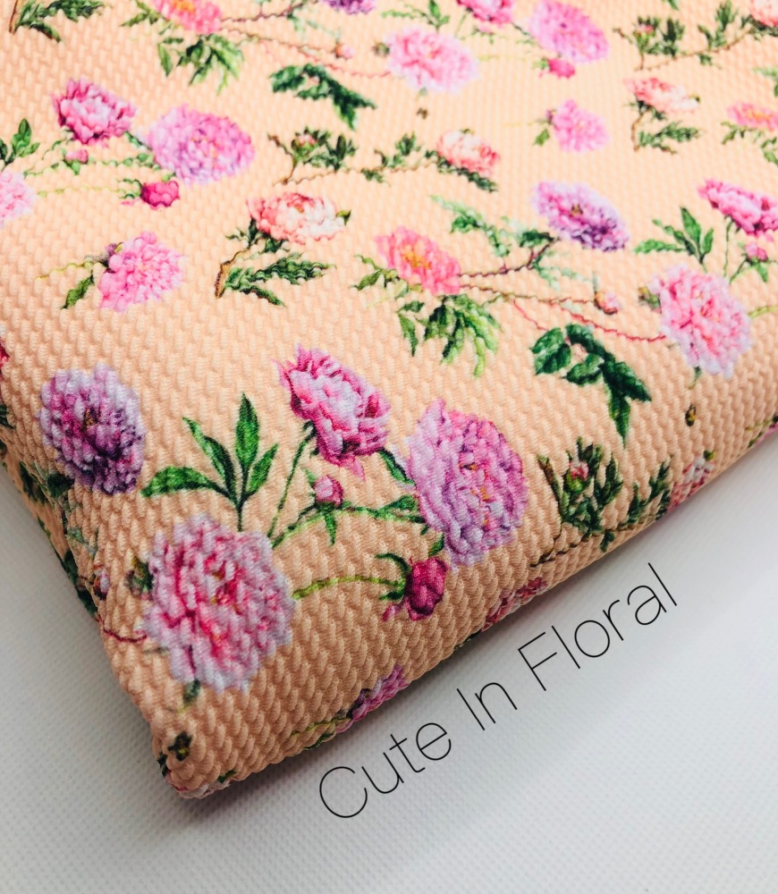 Cute In Floral Bullet Fabric