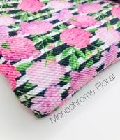 Monochrome Floral Bullet Fabric