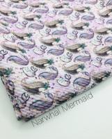 Narwhal Mermaid Bullet Fabric