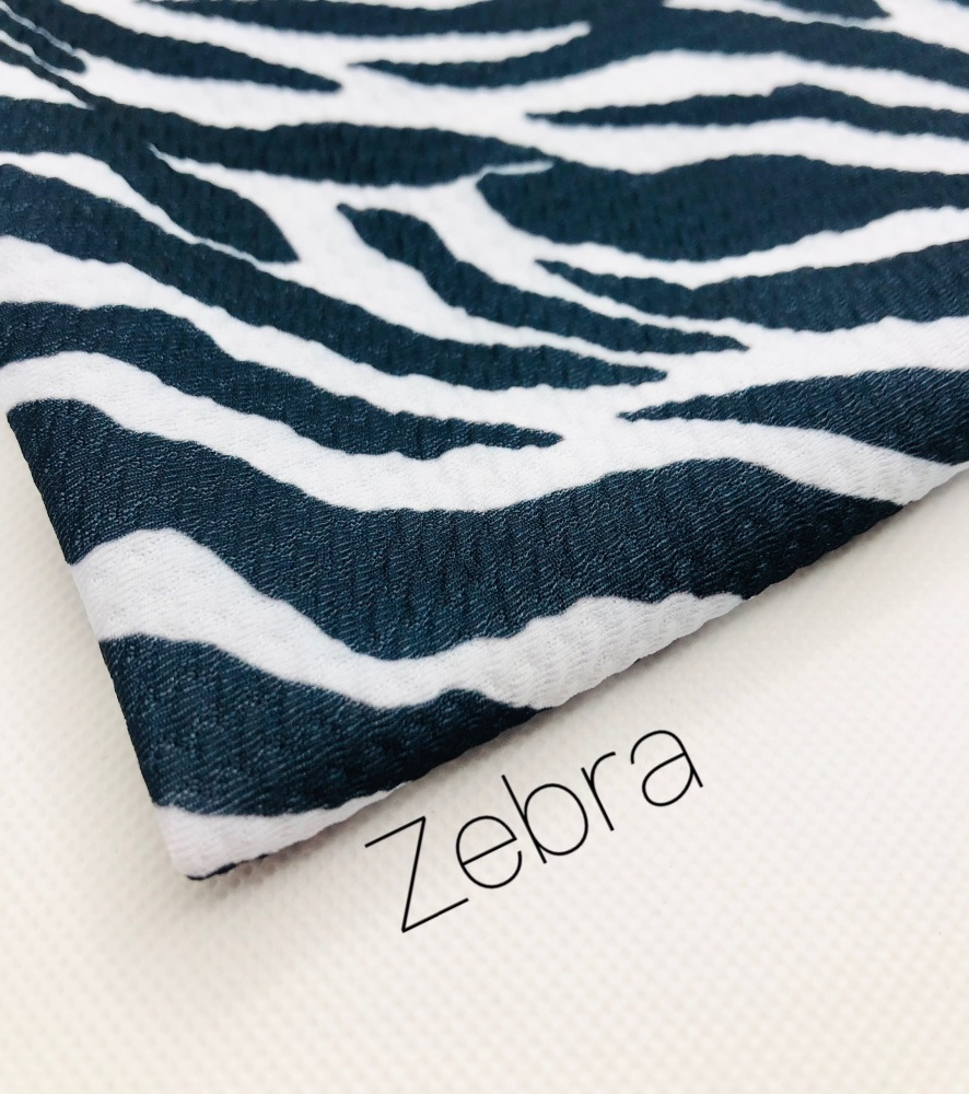 Zebra Print black and white Patterned Bullet Fabric