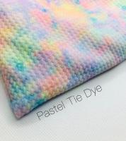 Pastel Tie dye effect rainbow Printed Bullet Fabric