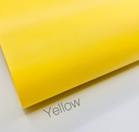 Smooth Plain leather Yellow