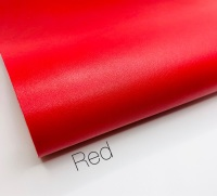 Smooth Plain leather Red