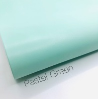 Smooth Plain pastel green synthetic leather
