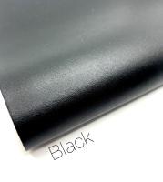 Smooth Plain leather Black