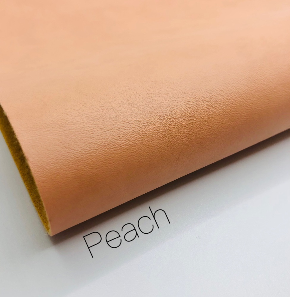 Smooth Plain peach synthetic leather