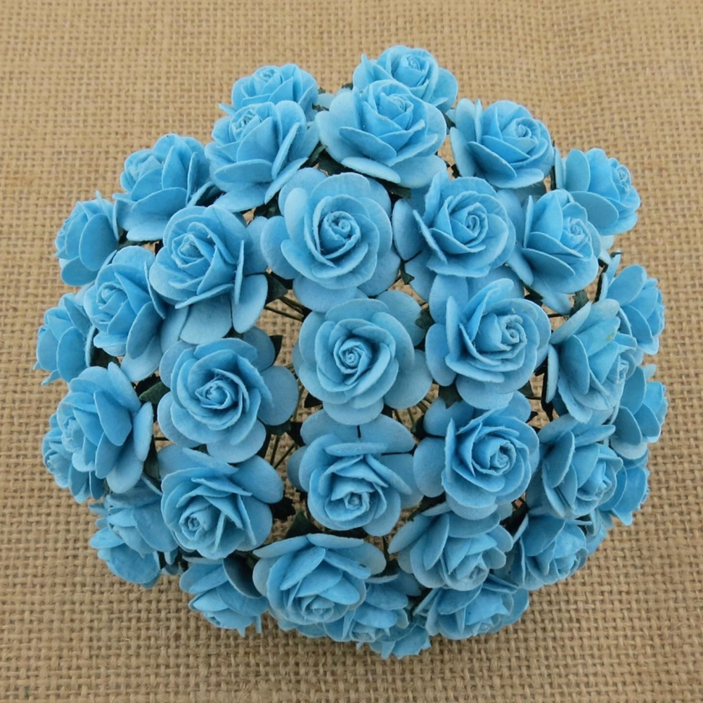MULBERY FLOWERS - LIGHT TURQUOISE