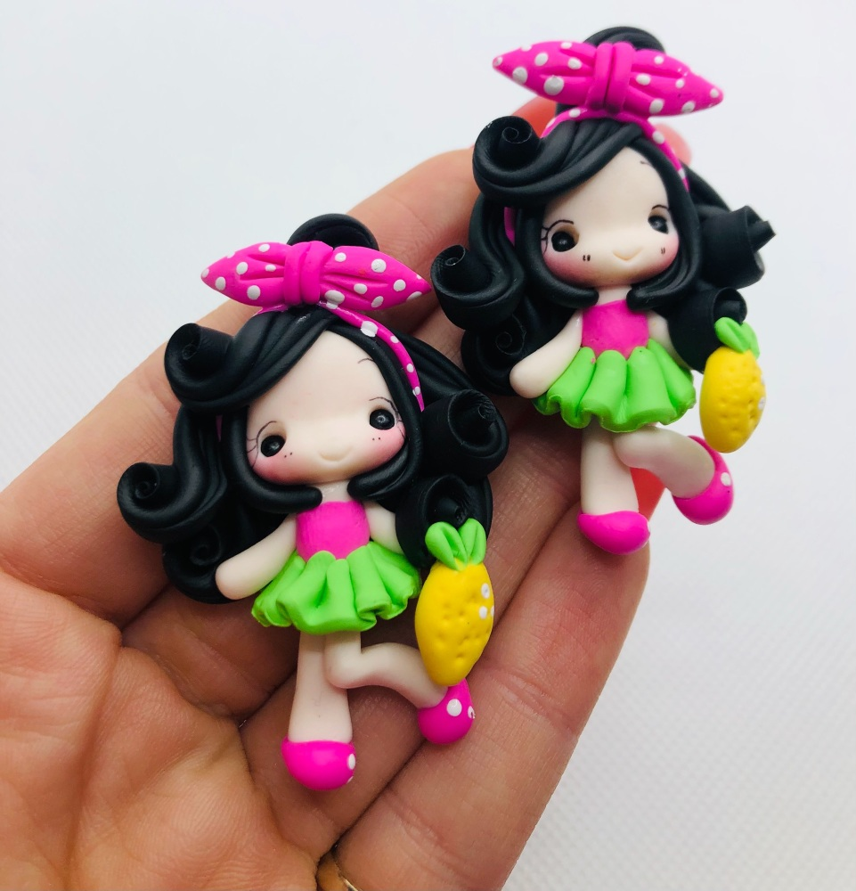Lemon theme summer polymer girl clay