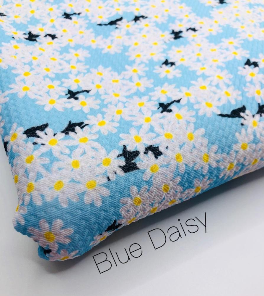 The Blue Daisy printed bullet fabric