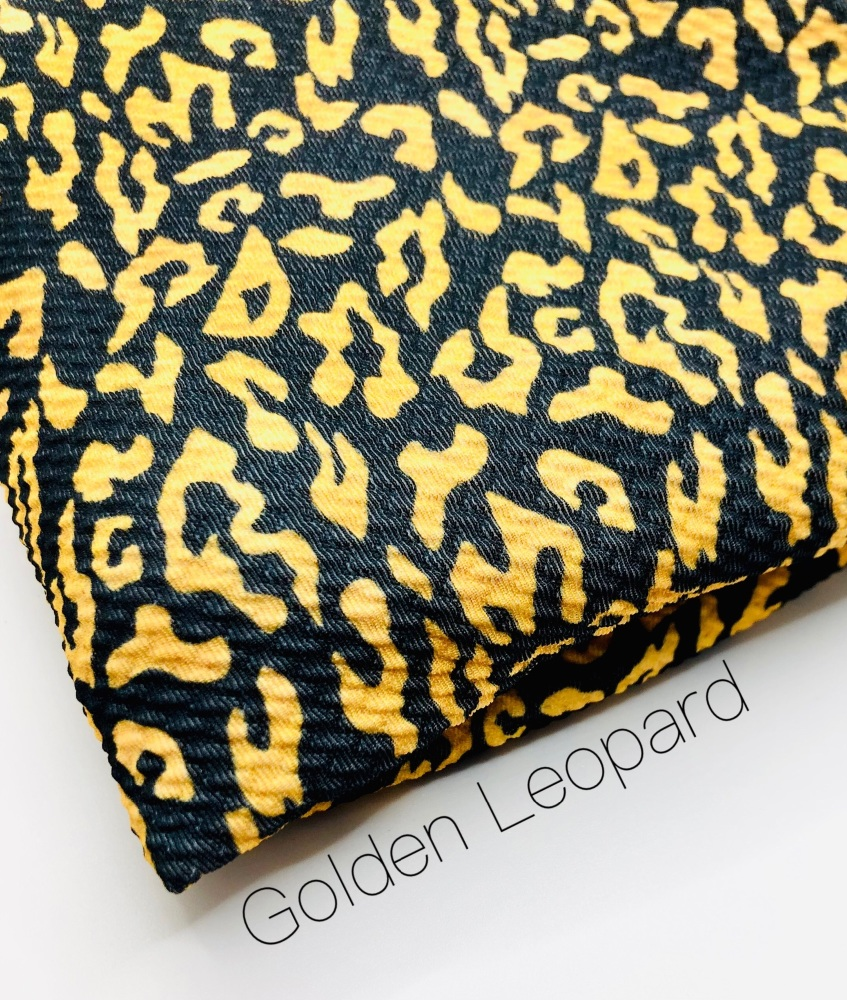The Golden Leopard printed bullet fabric