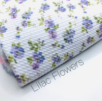 Lilac Flowers printed bullet fabric