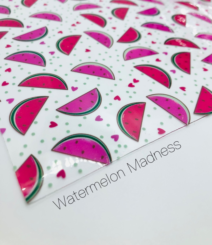 Watermelon Madness printed transparent jelly fabric