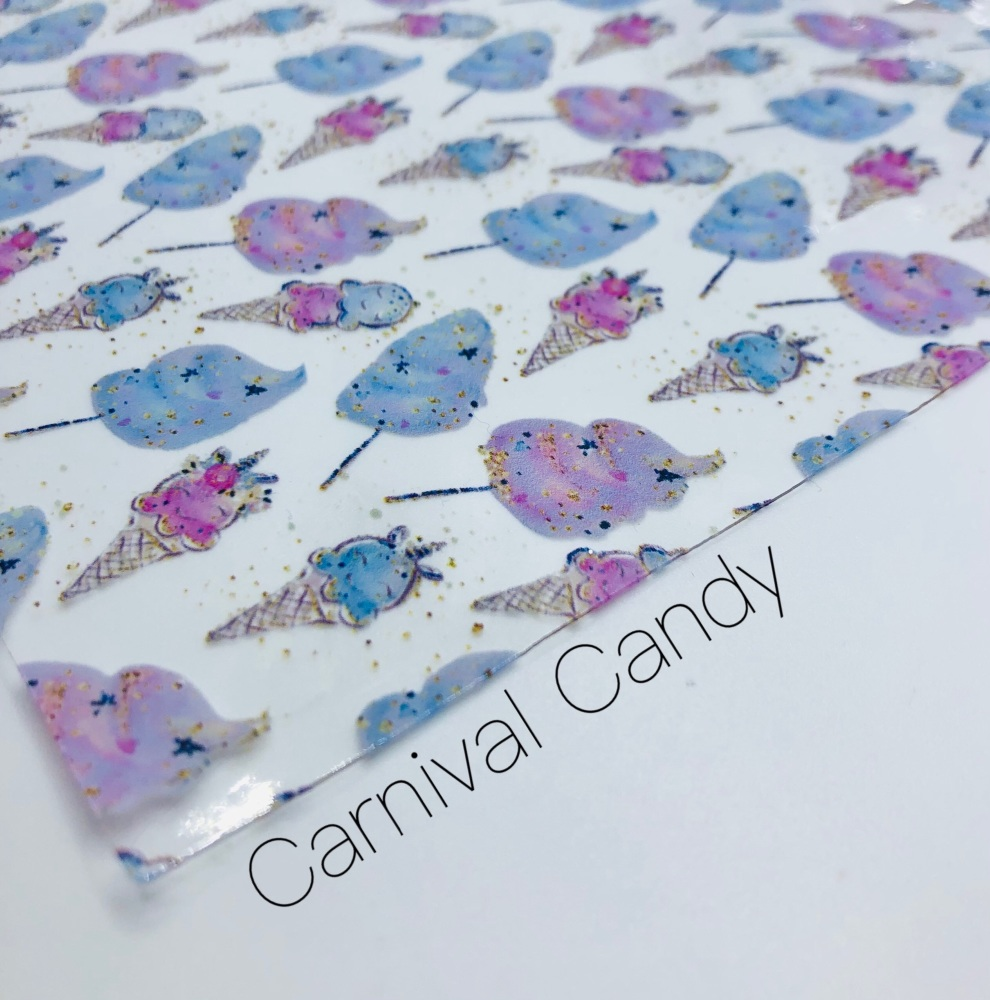 Carnival Candy printed transparent jelly fabric