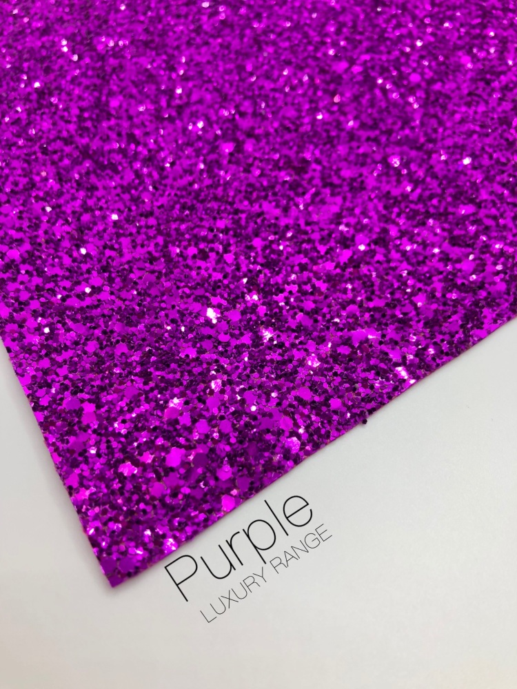 LUXURY -  Pure Purple chunky glitter fabric
