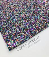 LUXURY - Dark Rainbow chunky glitter fabric