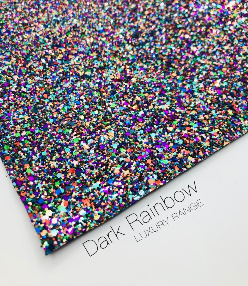 LUXURY - Rainbow Dust chunky glitter fabric