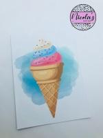 Ice cream sprinkles printed bow cards (10pk)