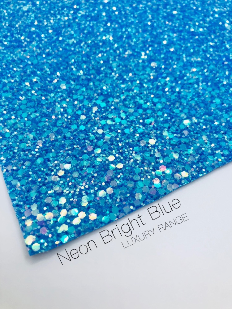 LUXURY - Neon range - Bright Blue Frosted Chunky Glitter