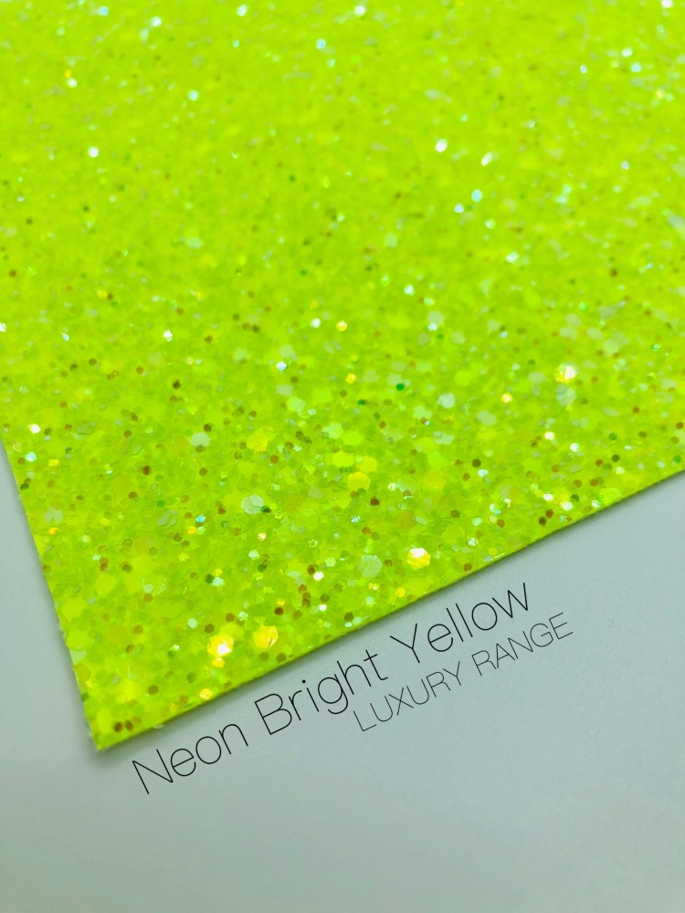 LUXURY - Neon range - Bright Yellow Frosted Chunky Glitter