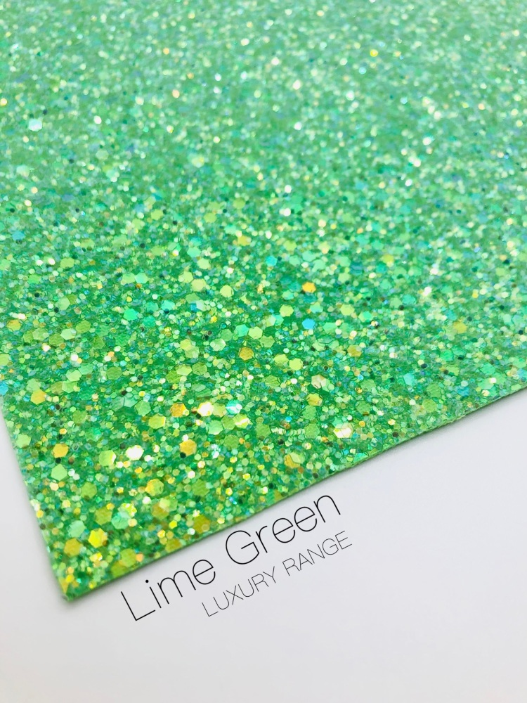 LUXURY - Lime Green Frosted Chunky Glitter