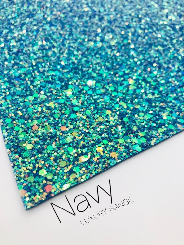 LUXURY - Navy Frosted Chunky Glitter