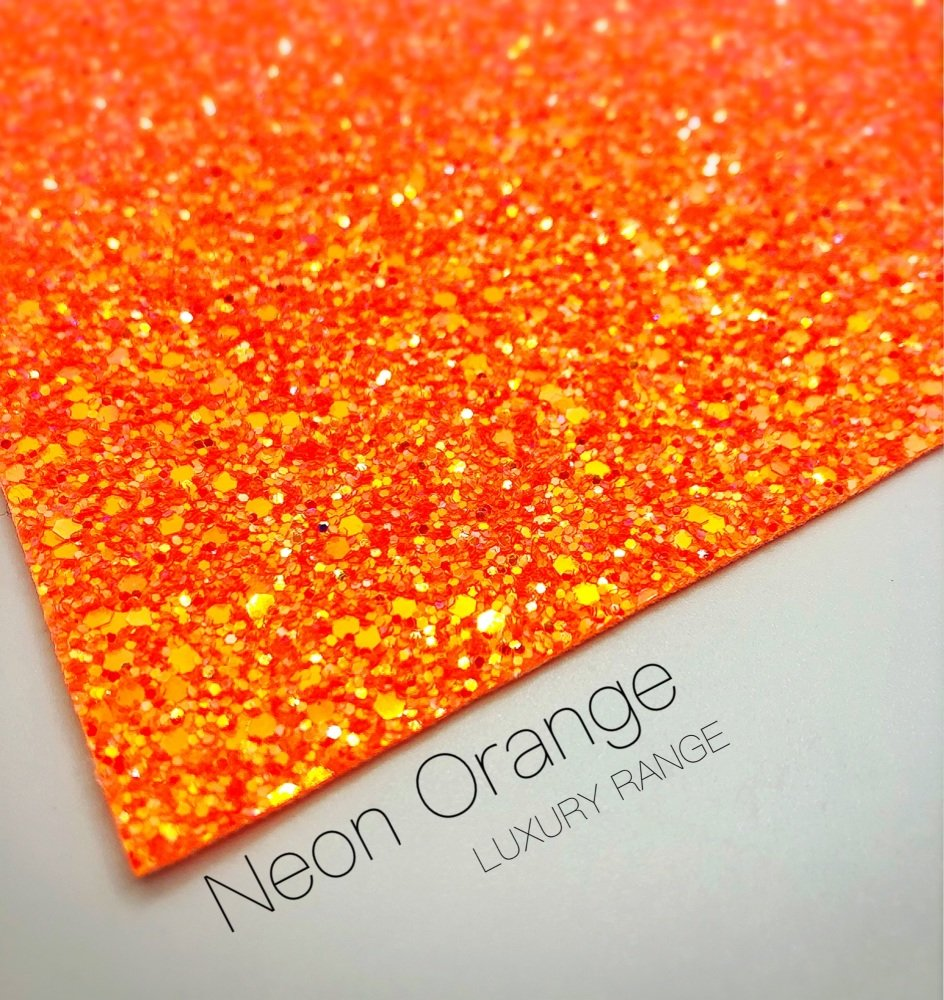 LUXURY - Neon range - Neon Orange Frosted Chunky Glitter
