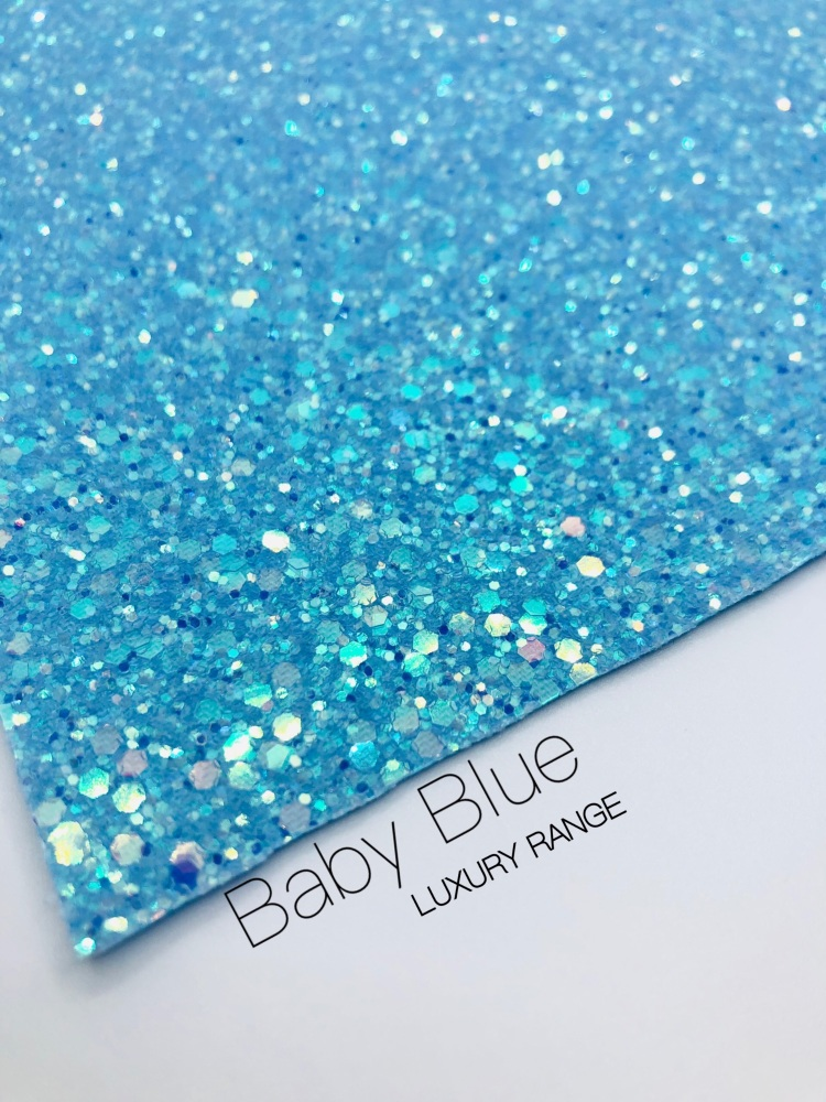 LUXURY - Baby Blue Frosted Chunky Glitter
