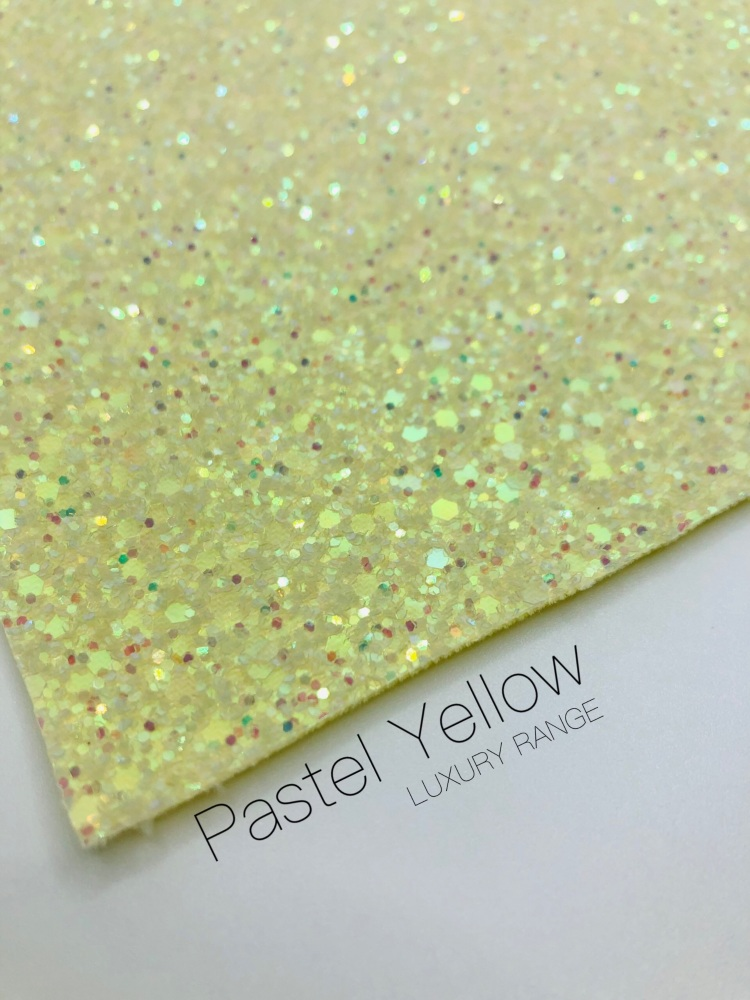 LUXURY - Pastel Yellow Frosted Chunky Glitter