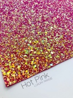 LUXURY - Hot Pink Frosted Chunky Glitter