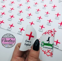 Come On England personalised pre cut bow loop