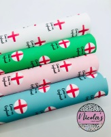 1470 - Come On England printed canvas fabric sheet