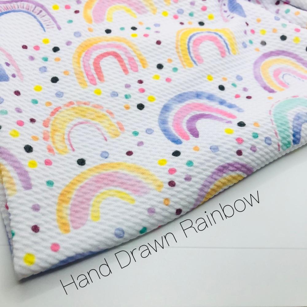 The Hand drawn Rainbow Bullet Fabric