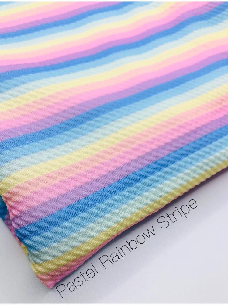 The Pastel Stripe Rainbow Bullet Fabric