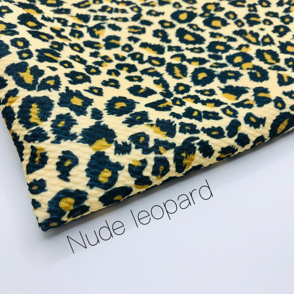 Nude Leopard print Patterned Bullet Fabric