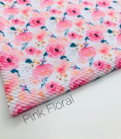 Pink Floral Flower Printed Bullet Fabric