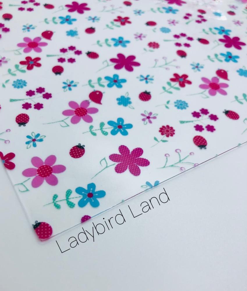 Ladybird Land Transparent jelly fabric
