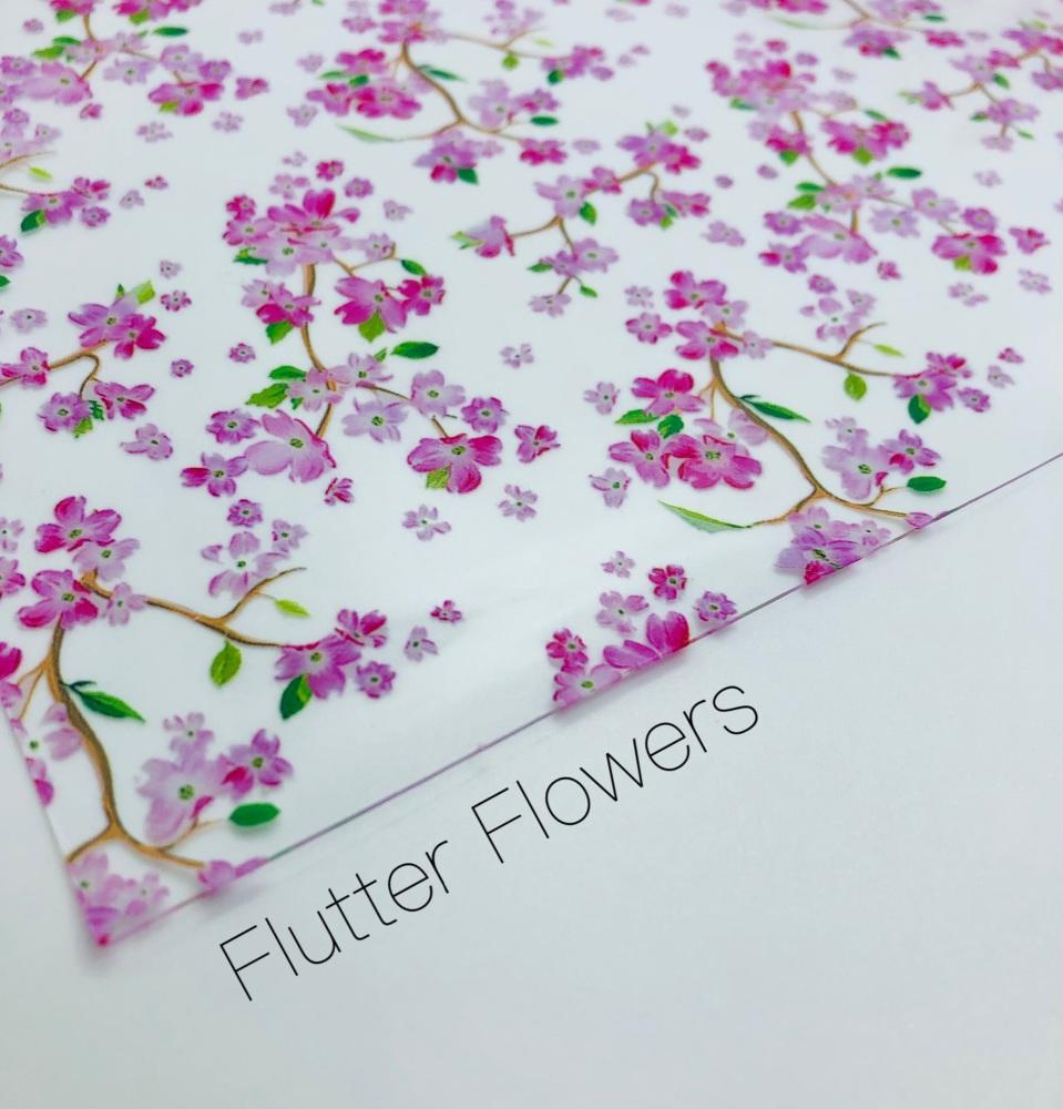 Flutter Flowers Transparent jelly fabric