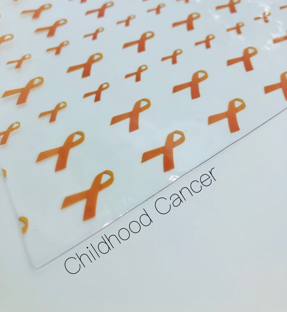Childhood cancer transparent jelly fabric