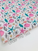 Under The sea mermaid sea shell Printed Bullet Fabric