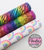 Bright Rainbow Chunky - Printed canvas bundle