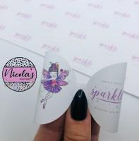 Leave a little sparkle fairy printed pre cut bow loop