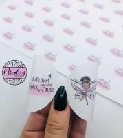 Faith trust and a little fairy dust printed pre cut bow loop