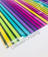 Coloured Crossing printed Jelly Fabric