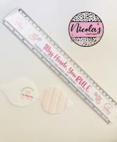 Teacher Personalised Clear Plastic Ruler 30cm