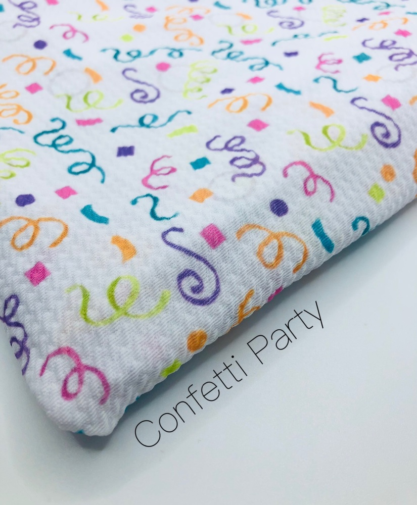 Confetti Party Printed Bullet Fabric