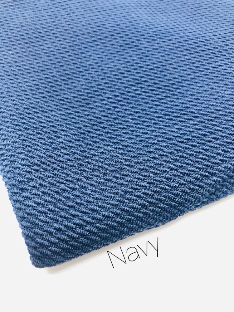 #48 Navy Blue Plain Bullet Fabric